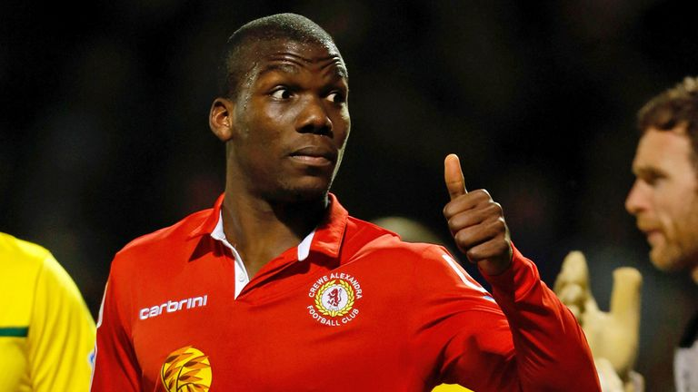 Mathias Pogba: Got both Crewe goals