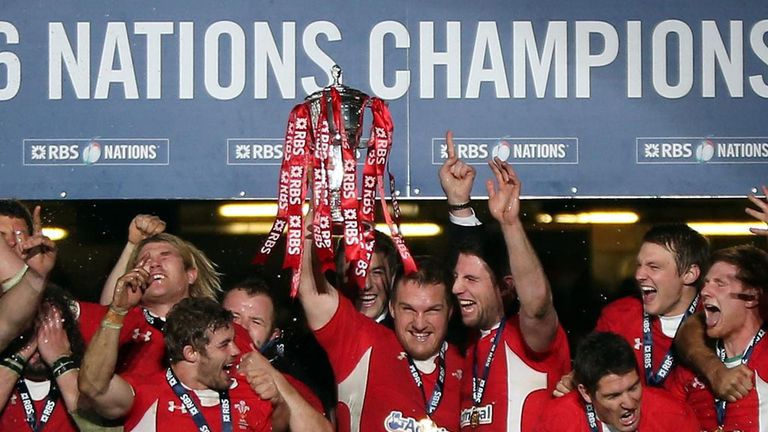 Wales celebrate retaining the Six Nations championship