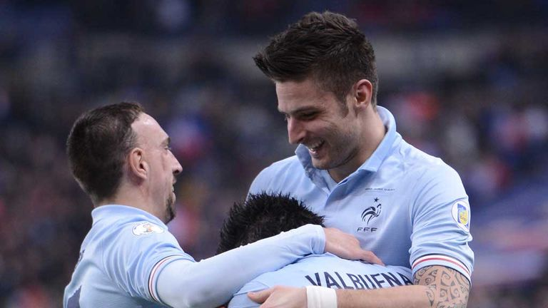 Olivier Giroud: On target for France in Georgia win