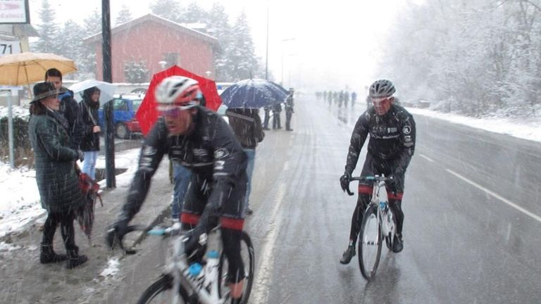 The classics are often raced in dreadful weather, such as Milan-San Remo in 2013