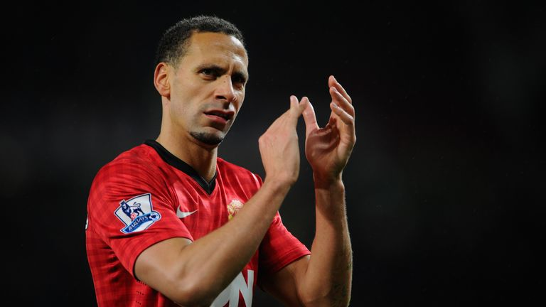 Rio Ferdinand applauds the fans at the end of the Premier League match against Reading.