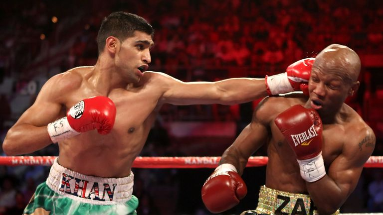 Khan attacked and conquered Zab Judah out in Las Vegas