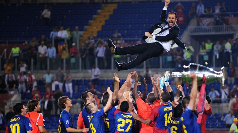 Guardiola won the Champions League twice at Barcelona as head coach