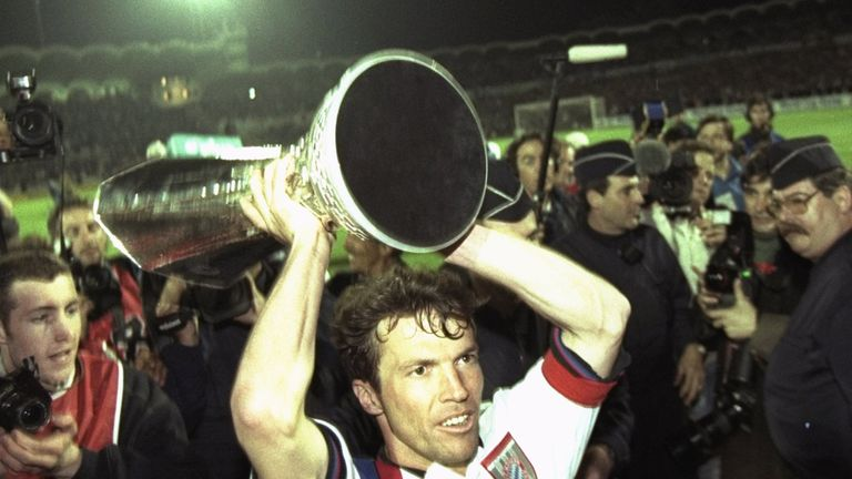 Lothar Matthaus was substituted with Bayern leading Man Utd in 1999