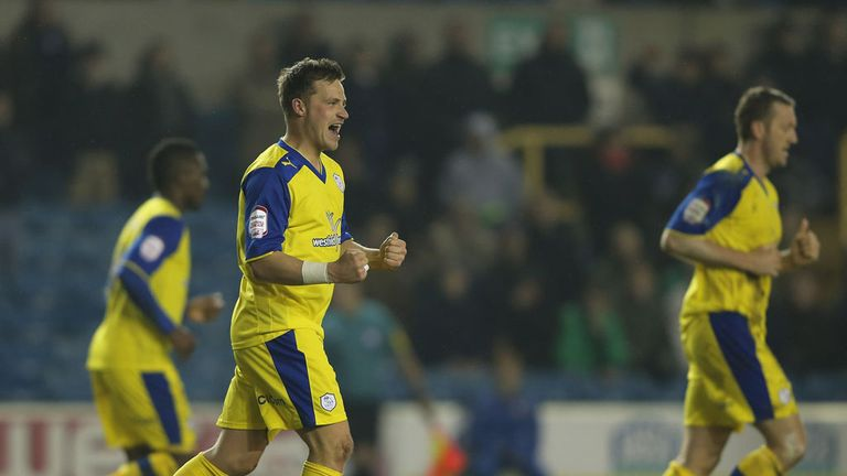 Chris Maguire celebrates his late winner against Millwall