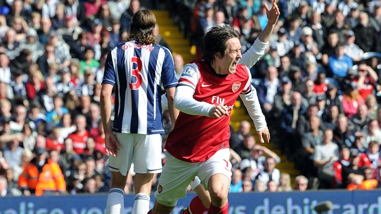 Tomas Rosicky: Scored just his 14th and 15th Premier League goals
