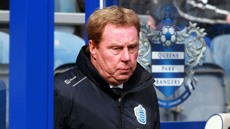 QPR manager Harry Redknapp during the Barclays Premier League match at Loftus Road, London.