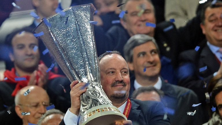 Rafa Benitez led Chelsea to the Europa League title during his seven months as interim manager