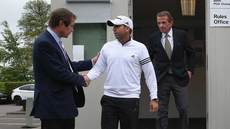 Sergio Garcia and George O'Grady meet at Wentworth