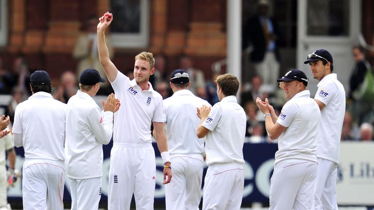 Broad celebrates five-wicket haul against New Zealand at Lord's