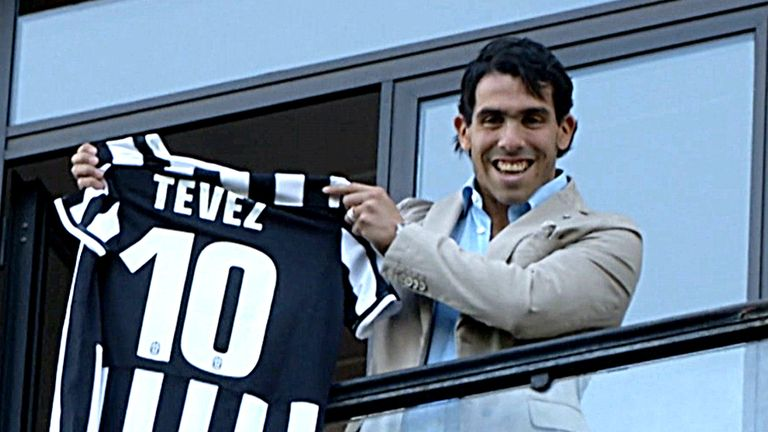 best service 636f6 ef715 Carlos Tevez off the mark for Serie A champions Juventus ...