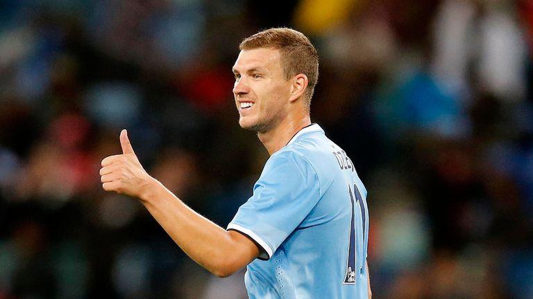 Edin Dzeko: The striker has been warned by Manuel Pellegrini to rediscover his best form
