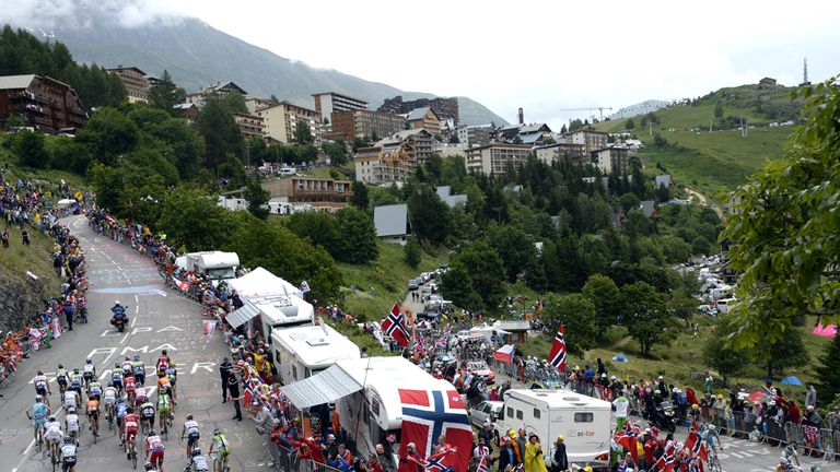 The hairpin climbs of Alpe d'Huez will provide the grand finale of the Tour