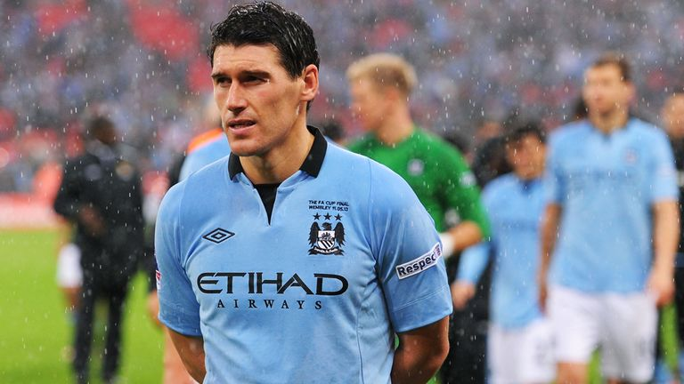 LONDON, ENGLAND - MAY 11:  Gareth Barry of Manchester City looks dejected in defeat after the FA Cup with Budweiser Final between Manchester City and Wigan Athletic at Wembley Stadium on May 11, 2013 in London, England.  (Photo by Mike Hewitt/Getty Images)