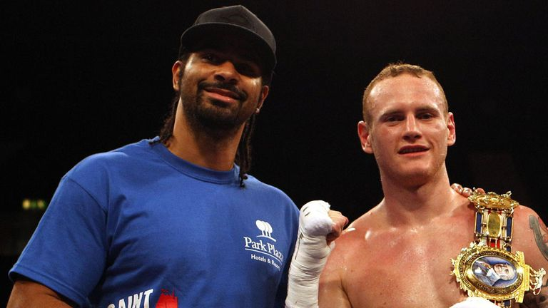 Fighting friends: David Haye believes his mate George Groves is ready to fight Carl Froch