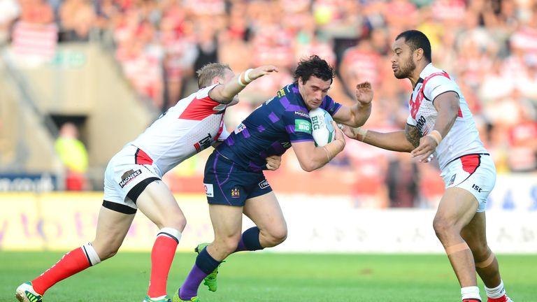 Blocked: St Helens halted high-flying Wigan on Monday night
