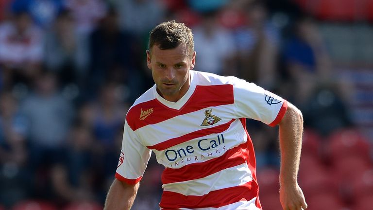 DONCASTER, ENGLAND - AUGUST 03:  Richie Wellens of Doncaster during the Sky Bet Championship match between Doncaster Rovers and Blackpool at Keepmoat Stadium on August 03, 2013 in Doncaster, England,  (Photo by Ross Kinnaird/Getty Images)