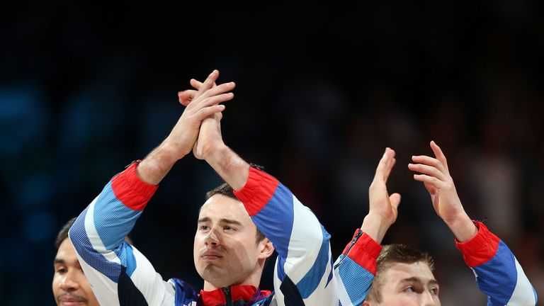 Sam Oldham (right) helped GB win team bronze at London 2012