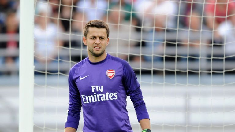 Lukasz Fabianski of Arsenal FC during the pre-season friendly match between Arsenal and Manchester City at the Olympic Stadium in Helsinki, Finland.