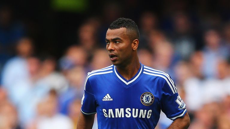 Ashley Cole of Chelsea in action during the Barclays Premier League match between Chelsea and Hull City at Stamford Bridge