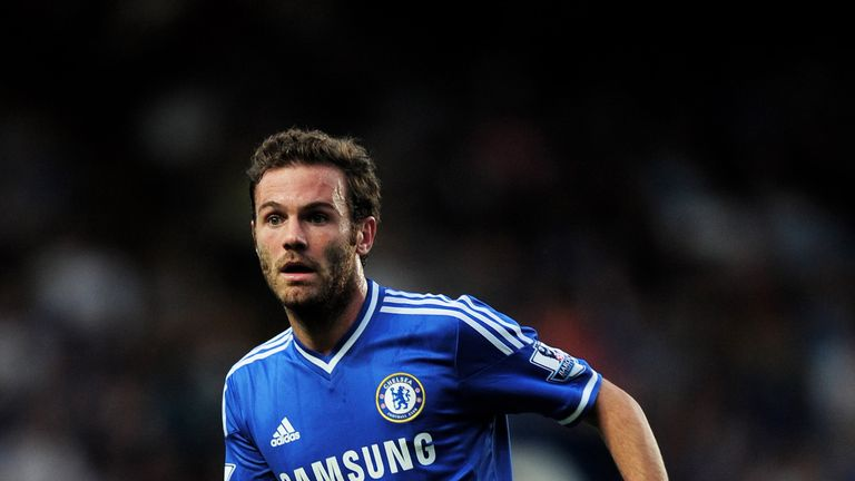 Juan Mata of Chelsea in action during the Barclays Premier League match between Chelsea and Aston Villa at Stamford Bridge