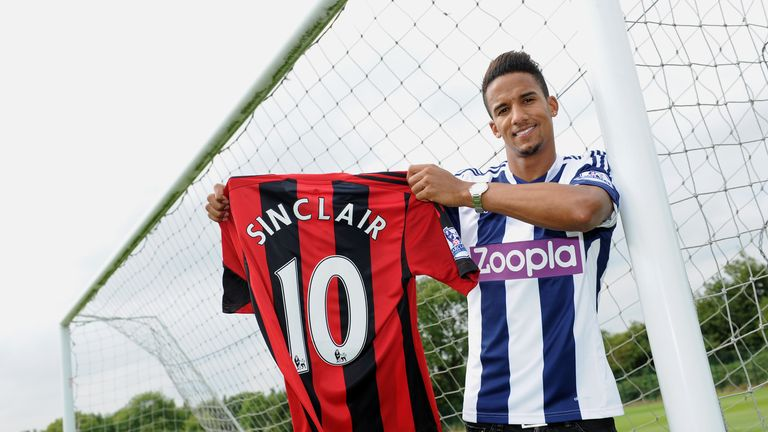 West Bromwich Albion sign Scott Sinclair from Manchester City on a one season loan. CREDIT: WBA