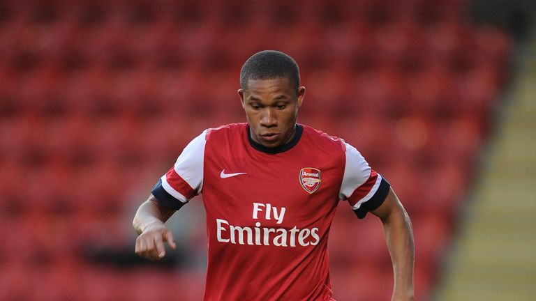 Wellington Silva of Arsenal XI during the pre season friendly match between Leyton Orient and Arsenal XI at The Matchroom Stadium