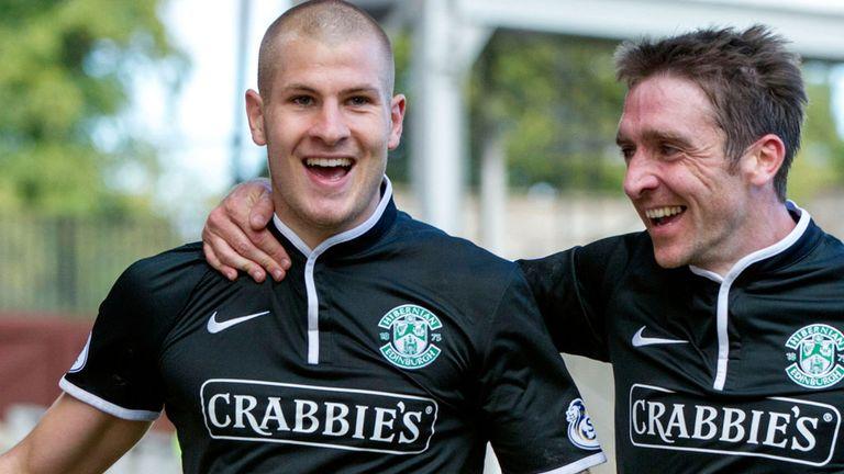 James Collins: First goal for Hibernian