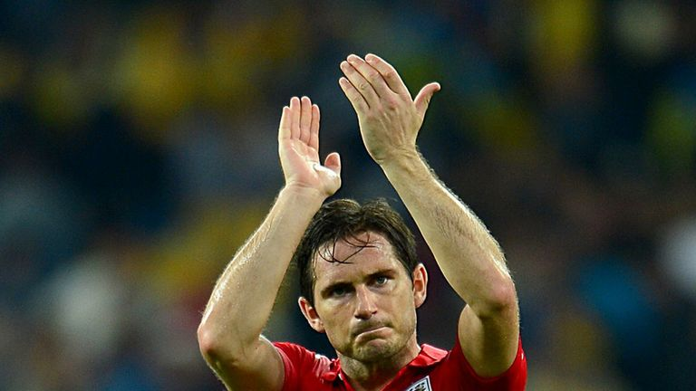 Frank Lampard: England midfielder won his 100th cap in Kiev
