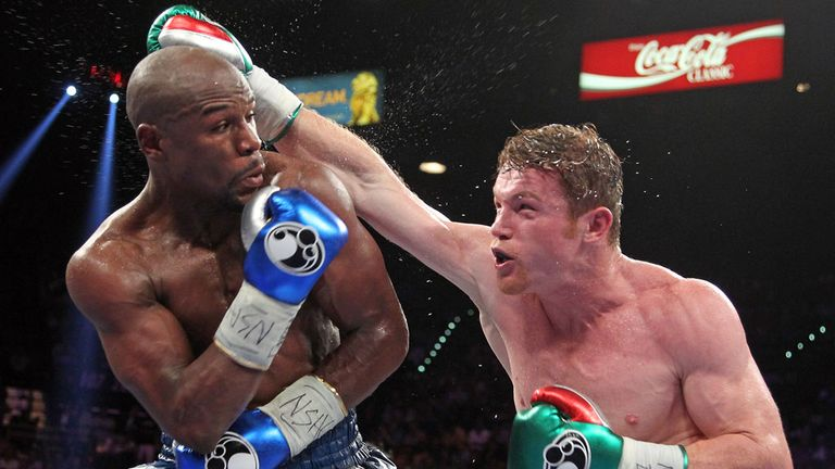 Alvarez's only career defeat came against Floyd Mayweather
