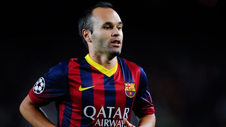 BARCELONA, SPAIN - SEPTEMBER 18:  Andres Iniesta of FC Barcelona looks on during the UEFA Champions League Group H match between FC Barcelona and Ajax Amsterdam at the Camp Nou stadium on September 18, 2013 in Barcelona, Spain.  (Photo by David Ramos/Getty Images)