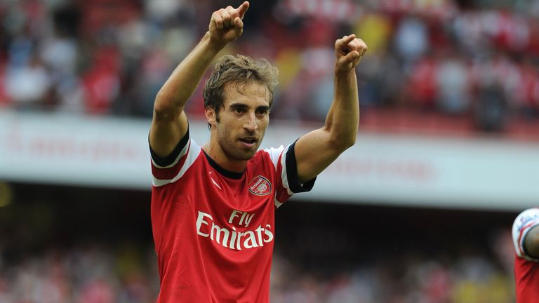 Mathieu Flamini of Arsenal during the Barclays Premier League match between Arsenal and Tottenham Hotspur at Emirates Stadium on September 01, 2013 in London, England.