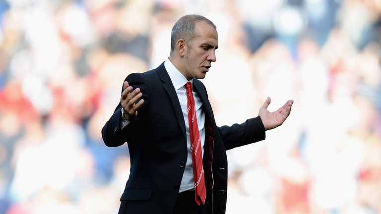 WEST BROMWICH, ENGLAND - SEPTEMBER 21:  Paolo Di Canio, manager of Sunderland gestures at the end of the Barclays Premier League match between West Bromwich Albion and Sunderland at The Hawthorns on September 21, 2013 in West Bromwich, England.  (Photo by Tony Marshall/Getty Images)