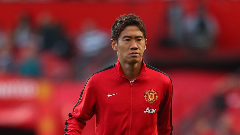 MANCHESTER, ENGLAND - AUGUST 26:  Shinji Kagawa of Manchester United warms up prior to the Barclays Premier League match between Manchester United and Chelsea at Old Trafford on August 26, 2013 in Manchester, England.  (Photo by Alex Livesey/Getty Images)