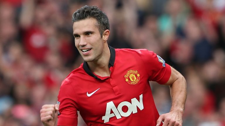 Robin van Persie opens the scoring Manchester United vs Crystal Palacen
