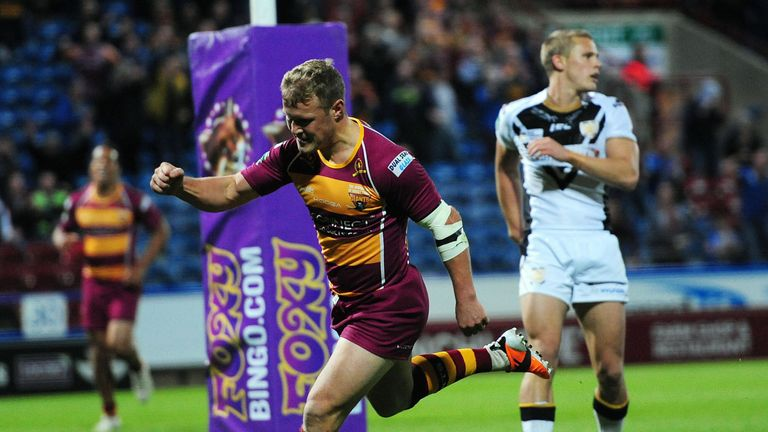 Luke Robinson: Scored four tries in the Giants' 76-18 win over Hull FC