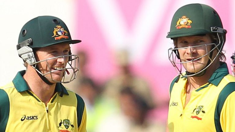 Former Australia internationals George Bailey (left) and Shane Watson will be part of the player review panel