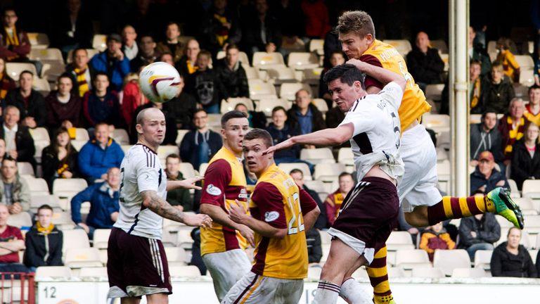 Shaun Hutchinson: Heads home the Motherwell winner