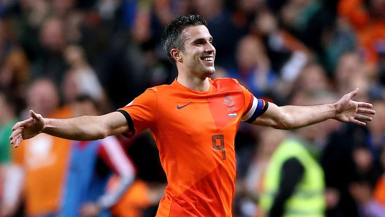 Robin van Persie: Celebrates recent goal against Hungary
