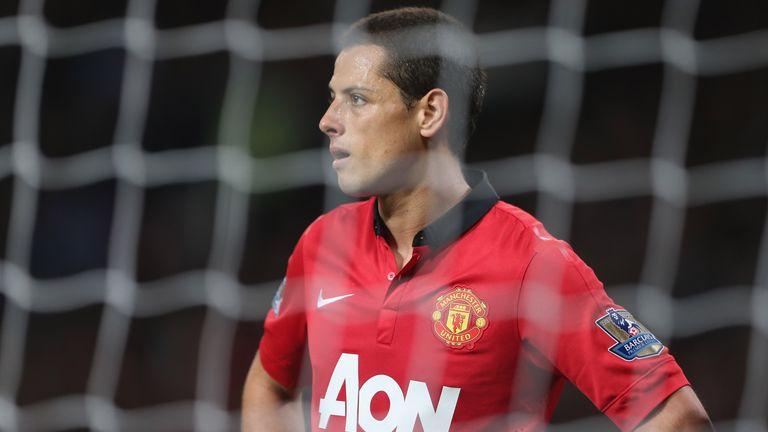 Javier Hernandez of Manchester United at Old Trafford on September 25, 2013 in Manchester, England.
