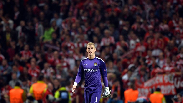 Manchester City keeper Joe Hart waits to learn if he will start against Everton