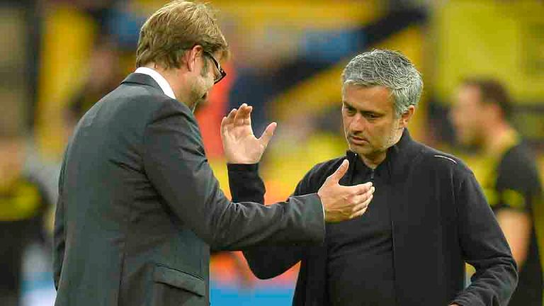 Klopp and Mourinho traded words in the build-up to their semi-final clash