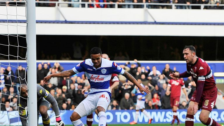 Jermaine Jenas: Scores the opening goal of the game for QPR
