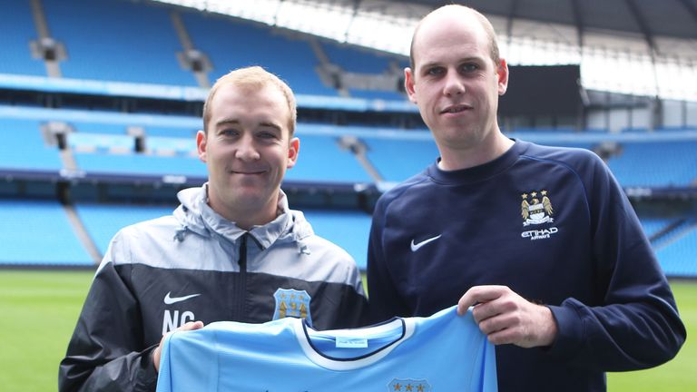 Nick Cushing (left) and Leigh Wood (pic courtesy of Manchester City)