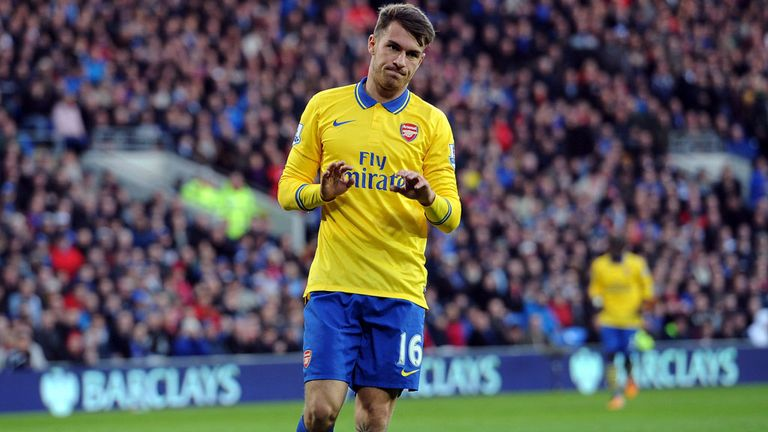 Aaron Ramsey: Bagged a brace at the home of his former employers
