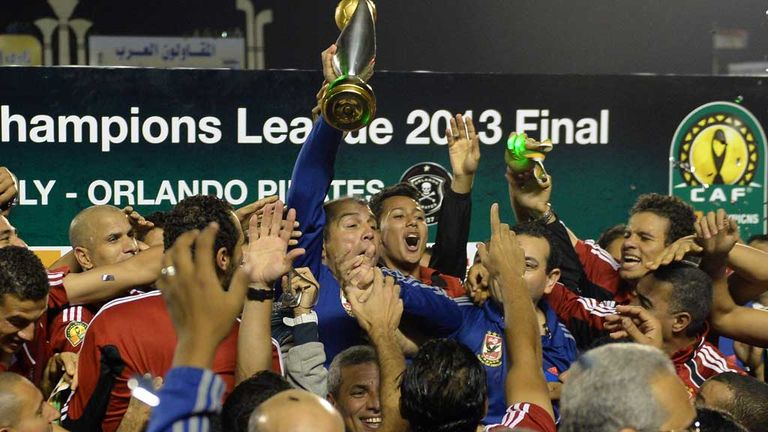 Al Ahly celebrate their Champions League triumph