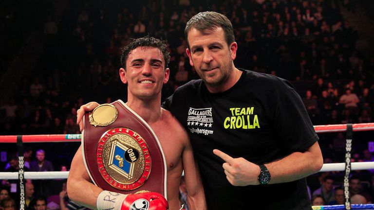 Anthony Crolla with trainer Joe Gallagher
