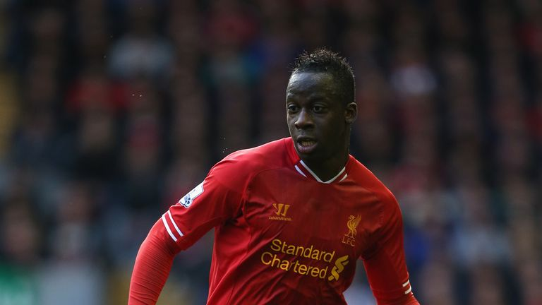 Aly Cissokho  of Liverpool in action during the Premier League match against West Bromwich Albion./