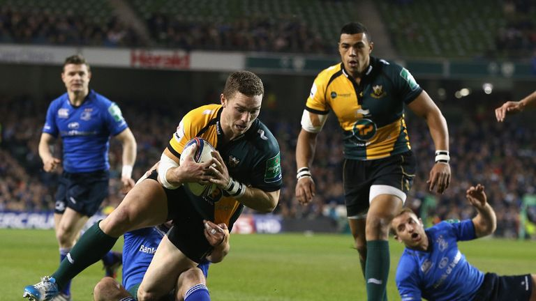 George North was among the try scorers as Northampton pulled off a shock victory at the Aviva