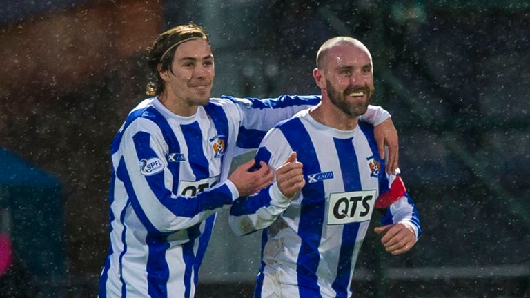 Kris Boyd: Congratulated by Jackson Irvine after his match-winner